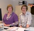 Mitarbeiterinnen der Notare:Frau Großkopf und Frau Tanz